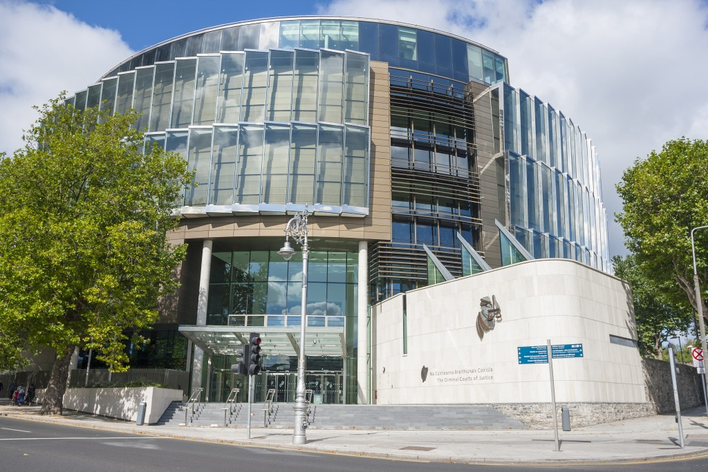 Dublin, Ireland - Sep 07, 2014: The Criminal Courts of Justice in Dublin, Ireland on September 07, 2014