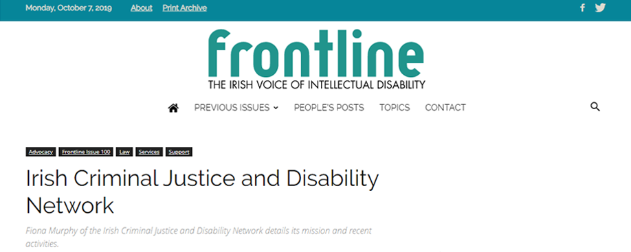 Frontline – The Irish Voice of Intellectual Disability