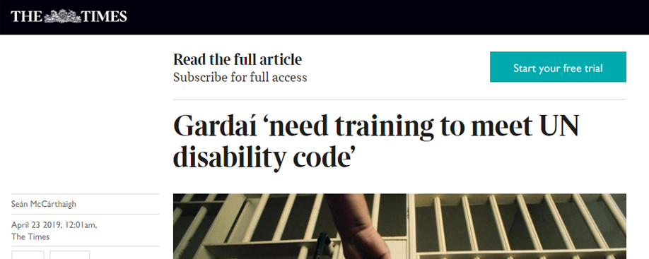 Gardaí 'need training to meet UN disability code'